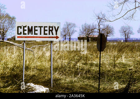 HART Island.  NYC Potters field. Site for temporary burial of Covid-19 victims. - Stock Photo