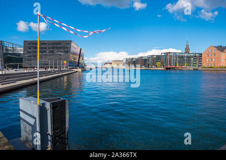 Copenhagen, Denmark - May 04, 2019: The Black Diamond. The Copenhagen Royal Library is the national library of Denmark in Copenhagen - Stock Photo