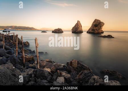 Corner of the Amalfi coast. Photographic shot taken in Vietri sul mare - Italy - Stock Photo