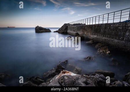 Corner of the Amalfi coast. Photographic shot taken in Vietri sul mare - Italy - Stock Photo