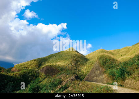 Amazing landscape in Ta Xua, Northwest Vietnam. At an altitude of 2000m above sea level, this place is also known by the name: Clouds Paradise. - Stock Photo