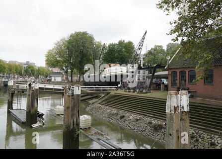 Old shipyard in Rotterdam called the Koningspoort, part of the Old Harbor (Dutch: Oude Haven). - Stock Photo