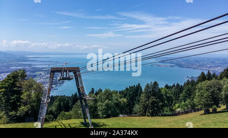 Lake Constance: view from the Pfaender cable car - Stock Photo