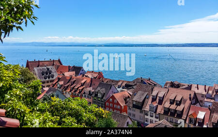 View of Lake Constance from Meersburg - Stock Photo