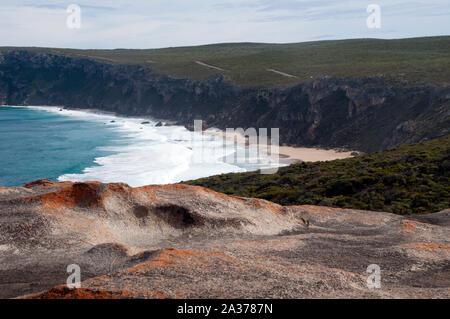 Kangaroo Island Australia, beach view from Remarkable Rocks - Stock Photo