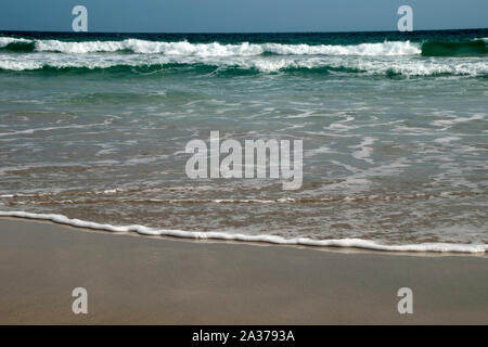Kangaroo Island Australia, water's edge with waves breaking at Stokes Bay - Stock Photo