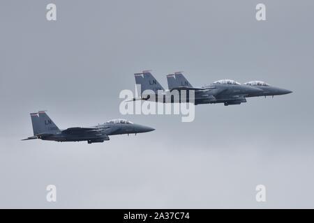 McDonnell Douglas F-15E Strike Eagle RIAT 2019 - Stock Photo