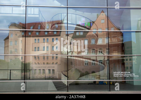 NÜRNBERG - Facade of the Neues Museum, the state museum for art and design - Stock Photo