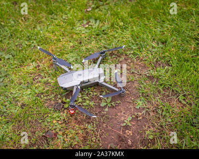 DJI Mavic Pro Platinum Drone on grass - Stock Photo
