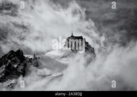 French Alpine Magic in the Chamonix valley Stock Photo
