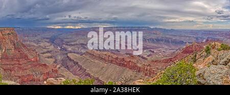 Grand Canyon from Lipan Point, South Rim, Arizona, United States - Stock Photo