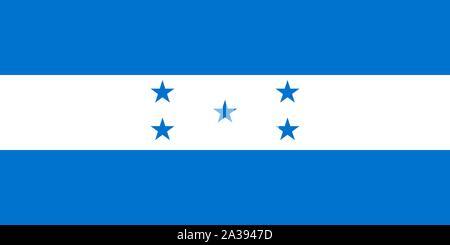 Official Large Flat Flag of Honduras Horizontal - Stock Photo