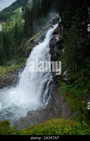 Krimml Waterfalls, High Tauern National Park, Salzburg, Austria - Stock Photo