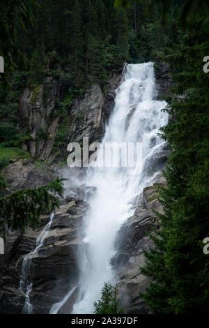 Close-up of Krimml Waterfalls, High Tauern National Park, Salzburg, Austria