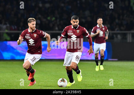 Tomas Rincon (Torino FC) during the Serie A TIM football match between Torino FC and SSC Napoli at Stadio Grande Torino on 6th October, 2019 in Turin, Italy. - Stock Photo
