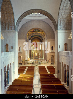 Sanctuary of the National Shrine of the Immaculate Conception on the campus of the Catholic University of America, Washington, D.C - Stock Photo