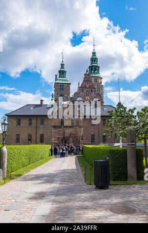 Copenhagen, Denmark - May 04, 2019: Rosenborg Castle and King's Garden in central Copenhagen, Denmark - Stock Photo