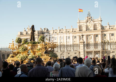 It is 80 years since the return of Jesus from Medinaceli to Madrid, from Geneva, after the end of the Spanish Civil War in 1939. Upon his return, the - Stock Photo