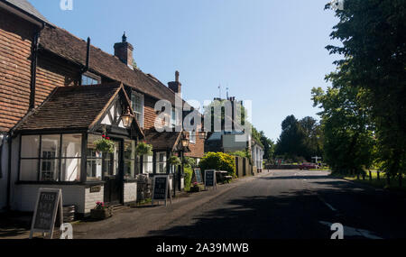 The Eight Bells public house in the ancient village of Hawkhurst, Kent, UK - Stock Photo