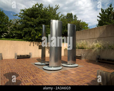 Sculpture Vigii located in plaza of the former Alfred P. Murrah Federal Building, Oklahoma City, Oklahoma - Stock Photo