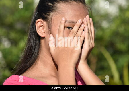 An A Fearful Female Juvenile - Stock Photo
