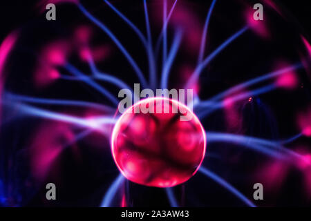 Electricity fire-ball. Abstract photo of electric waves. Static electricity - Stock Image
