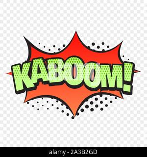 Kaboom comic style word isolated on transparent background - Stock Photo
