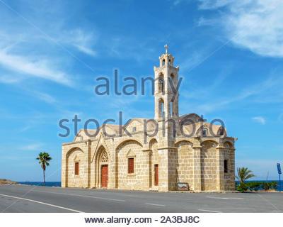 Ayios Thyrsos (Agios Therissos) church on the Karpaz Peniunsula, Yeni Erenköy, Famagusta (Iskele) District, Cyprus (Northern Cyprus). - Stock Photo