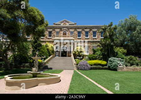 Chateau Yaldara on the McGulgan winery estate in the Barossa Valley wine region in South Australia.   There are about 150 wineries in the Barossa Vall - Stock Photo