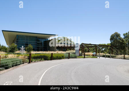 Jacobs Creek winery and visitor's centre in the Barossa Valley wine region in South Australia.   There are about 150 wineries in the Barossa Valley wi - Stock Photo
