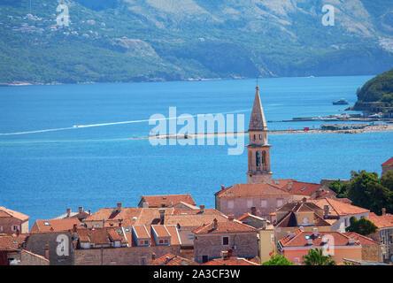 Old town of Budva in Montenegro - Stock Photo