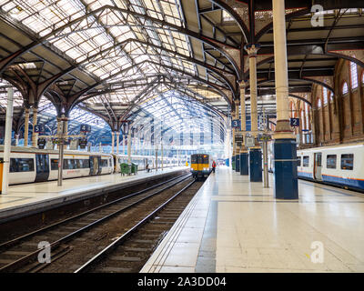 Platform at Liverpool Street Station - Stock Photo
