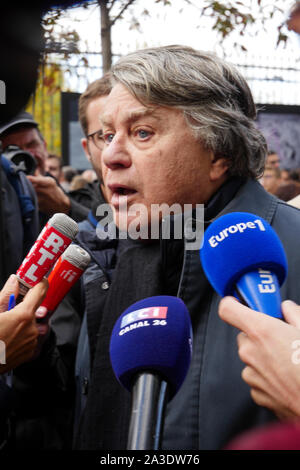 RN Lawyer Gilbert Collard attends Anti-Medically Assisted Procreation (PMA) demonstration in Paris, France Stock Photo