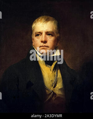Sir Walter Scott (1771-1832) Scottish author, poet and historian whose works remain classics of English literature. Oil painting by Sir Henry Raeburn (1756-1823) painted in 1822. - Stock Photo