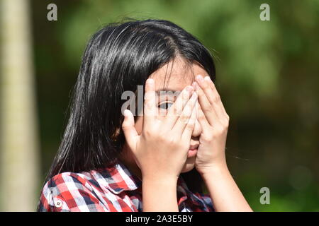 A Fearful Female Juvenile - Stock Photo