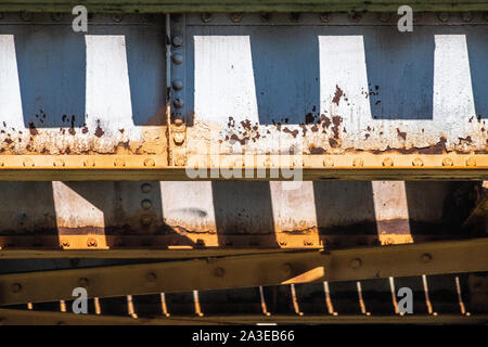 Abstraction of elevated train tracks - Stock Photo