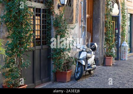 Beautiful Rome streets in historic city center near Vatican - Stock Photo