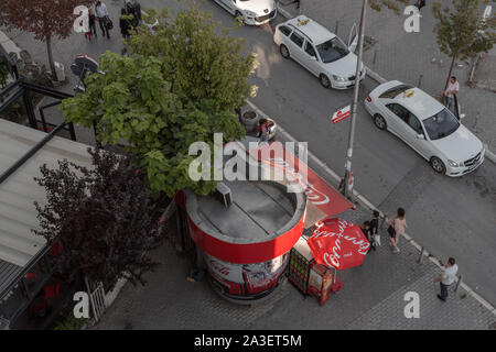 Pristina streets from above - Stock Photo