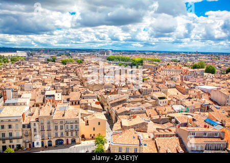 Bordeaux panoramic view of the city