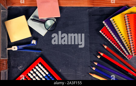 Education or Business Concept of School and Office Tools - Stock Photo