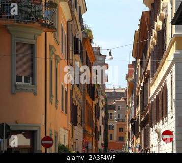 A beautiful street in Rome on a sunny summer's day.