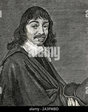 RENÉ DESCARTES (1596-1650) French philosopher and scientist - Stock Photo