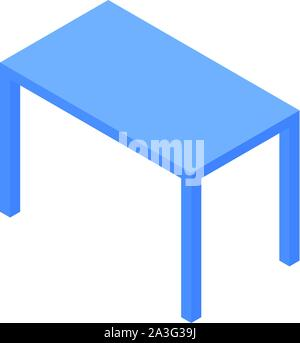 Blue table icon, isometric style - Stock Photo