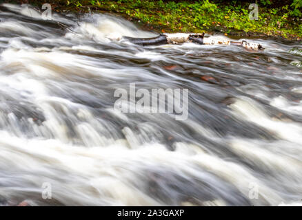 Rapids at Conglomerate Falls in the Upper Peninsula of Michigan. - Stock Photo