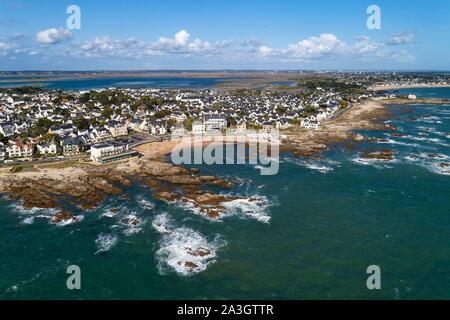 France, Loire Atlantique, Le Croisic, the wild coast, Port Lin - Stock Photo