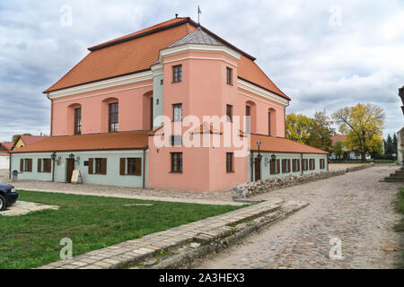 Great Synagogue in Tykocin / Tiktin (Poland) after the  restoration. Second biggest synagogue in Poland established in 1642, - Stock Photo