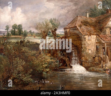 Parham Mill, Gillingham by John Constable (1776-1837), oil on canvas, c.1826 - Stock Photo