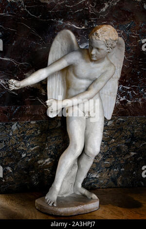 The Eros at the bow by Lysippus - Lysippos 338-335 BC Greek, Greece, ( god of love) - Stock Photo