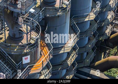 Duisburg Landscape Park, North, former metallurgical plant, in Duisburg Meidrich, gas purification plant West, Germany - Stock Photo