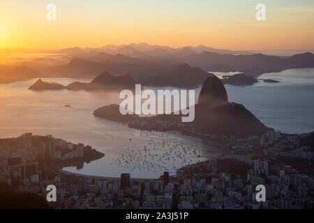 View from Cristo Redentor Statue in Rio de Janeiro, Brazil - Stock Photo
